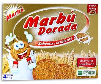 Marbu Galleta maria dorada 4 tubos - 800 g
