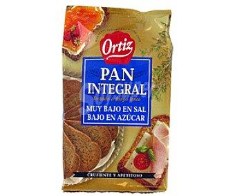 Ortiz Pan Tostado Integral Muy Bajo Contenido en Sal y Bajo en Azúcar 350 Gramos