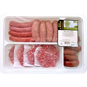 SIERRA EL MADROÑAL Parrillada iberica con longanizas chorizos y hamburguesas Bandeja 125 kg
