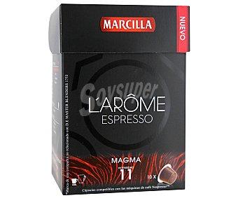L'ARÔME ESPRESSO Café intenso en monodosis magma de 10 unidades 52 gramos