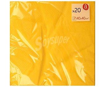 Actuel Servilletas desechables color amarillo 40 x 40 cm triple capa 20 uds