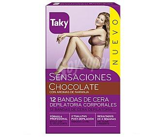 Taky Bandas de cera depilatorias Sensaciones 12 bandas
