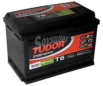 TUDOR Batería de automóvil de 12V y 74Ah, con potencia de arranque de 680 Amperios y medidas de 278x175x190 milímetros 1 unidad