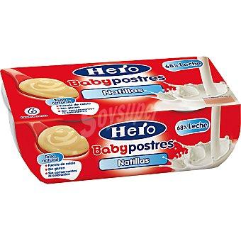 HERO BABY POSTRES Natillas pack 2x130 g estuche 260 g Pack 2x130 g
