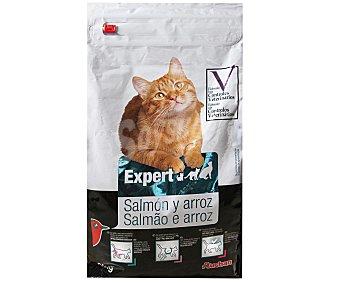 Auchan Comida completa para gatos rica en salmón y arroz 3 Kg
