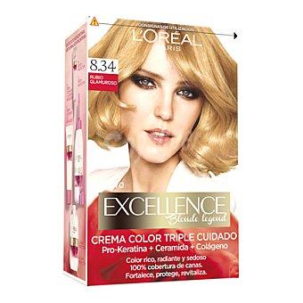 L'Oréal-Excellence Tinte creme nº 8.34 Rubio Glamuroso 1 ud