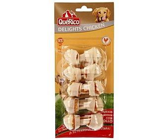 QuéRico Huesos masticables con pollo para perros raza pequeña  Blister 5 unidades
