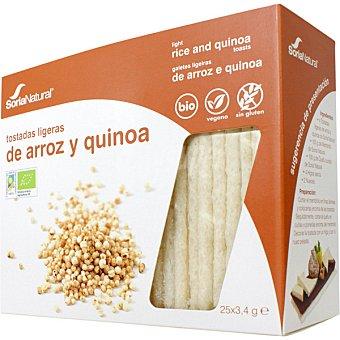 SORIA NATURAL Tostadas ligeras de arroz y quinoa  paquete 100 g