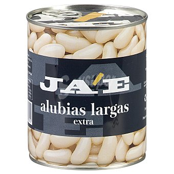 JA'E Alubia blanca larga extra cocida Lata 500 g peso neto escurrido