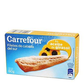 Carrefour Filete de caballa del sur en aceite girasol 60 g