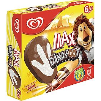 Frigo Helados de chocolate Max Dinofoot estuche 420 ml 6 unidades