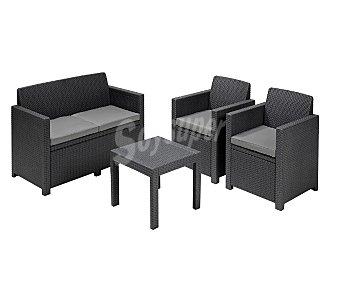 Allibert Conjunto de muebles para porche modelo Alabama sillón: 65x67x77cm sofá: 129x67x77cm mesa: 59x59x43cm, allibert
