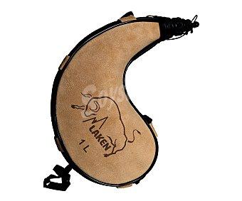 LAKEN Bota con forma curva, con capacidad de 1 litro y fabricada en piel 1 unidad