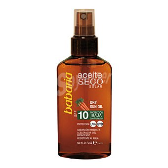 Babaria Aceite seco solar spray FP 10 100 ml