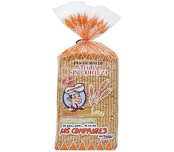 Los Compadres Pan molde integral sin corteza Paquete 350 g