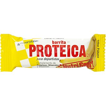 NUTRISPORT Barrita proteica sabor plátano Unidad 44 g
