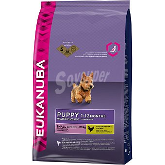 EUKANUBA PUPPY Small Breed Alimento completo para perro júnior de raza pequeña rico en pollo bolsa 3 kg Bolsa 3 kg
