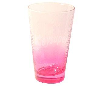 PASABAHCE Vaso de refrescos y agua modelo Petek, con capacidad de 40 centilitros, color rosa efecto degradado 1 Unidad