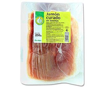 Productos Económicos Alcampo Jamón curado 250 gramos
