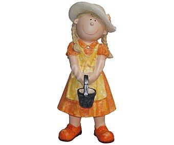 PROFILINE Figura de materiales biodegradables con la forma de una niña con su cestita de picnic, resistente al agua y al hielo, medidas: 12x13x32 centímetros 1 unidad