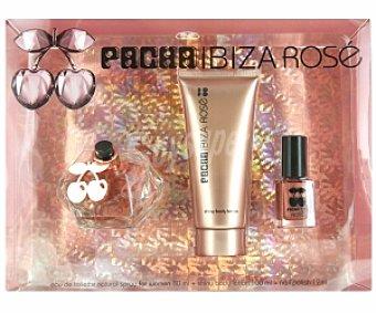 Pachá Ibiza Estuche Queen Rose: Eau de Toilette 80ml + Loción hidratante cuerpo 100ml + Laca uñas 12ml 1 Unidad