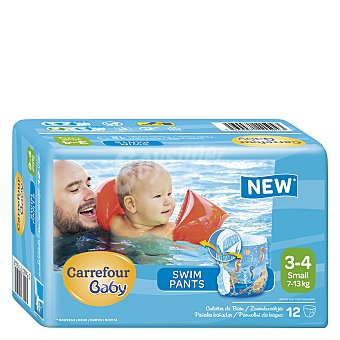 Carrefour Baby Pañales Bañador desechables Small 6-12 kg 12 ud