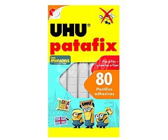 UHU Caja de masilla autoadhesiva reposicinable y reutilizable, ideal para objetos pequeños 80 unidades