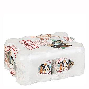 Victoria Cerveza rubia especial malagueña Pack 12 latas 33 cl