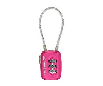 Arregui Candado combinado rosa con arco flexible, 30mm arregui