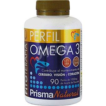 Prisma natural Perfil Omega 3 contribuye al mantenimiento del corazón, visión y cerebro  envase 90 comprimidos