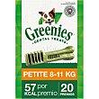 Snacks dentales para perros entre 8-11 kg Envase 20 unidades Greenies