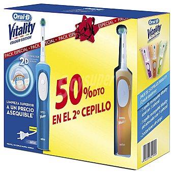 BRAUN - ORAL B Duopack D12 Cepillo dental Vitality con cabezal Precisión Clean