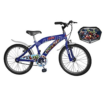 """VENGADORES Bicicleta junior de 20"""" con 1 velocidad, modelo Avengers Marvel 1 unidad"""