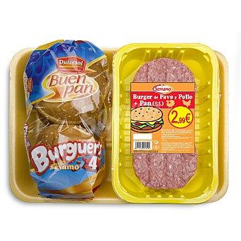 Carnicas Serrano Burger ave+pan (4+4) 320 GRS
