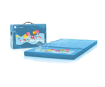 Bebeactual Colchón de viaje para bebé, azul, fantasía, ASALVO.
