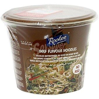 Rookee fideos instantáneos sabor ternera vaso 65 g