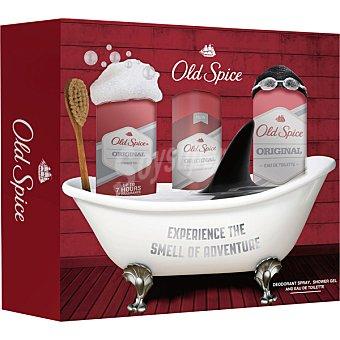 Old Spice pack Origina conl eau de toilette masculina + gel de baño + desodorante spray 100 ml