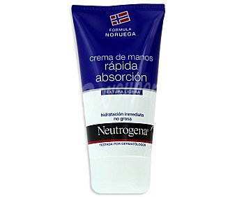 Neutrogena Crema de manos rápida absorción hidratante no grasa Tubo de 75 ml