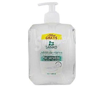 Sanko Jabón de manos con textura crema especial pieles sensible 400 ml