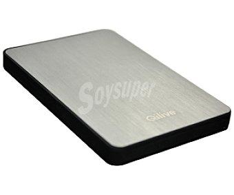 Qilive Disco Duro Externo de 2.5 Pulgadas BC 400294 , 500 GB de Almacenamiento, Conexion Usb 3.0 y 2.0. Carcasa de Aluminio y Diseño Ultra Slim,