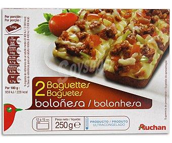 Auchan Baguette boloñesa 250 gramos