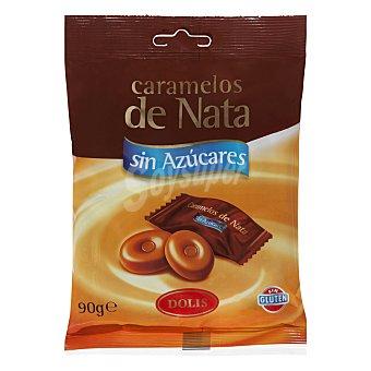 Dolis Caramelo sin azúcar nata Paquete de 90 g
