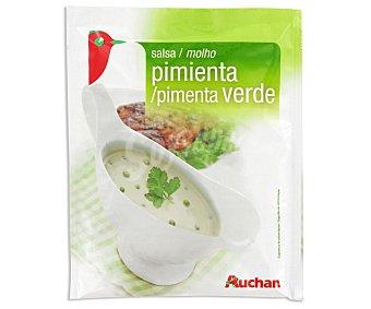 Auchan Salsa de pimienta verde Sobre de 60 grs