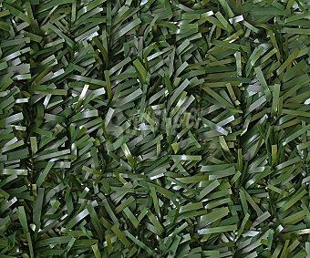 GARDELYS Seto artificial de PVC 90 varillas 1x3 con dos tonos de verde oscuro, con 30 varillas por metro lineal unidas por alambre de 1.2 ml y hoja con ancho de 4 a 5 ml 1 unidad