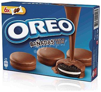 Oreo Galletas Oreo Bañadas Chocolate con Leche 6 bolsas de 2 galletas (246 g)