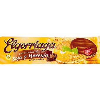 El Gorriaga Galletas con trocitos de soja y naranja al chocolate Estuche 150 g