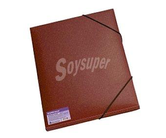 Erichkrause Carpeta de polipropileno reciclado de diferentes colores, tamaño DIN-A4, con 3 solapas, cierre de gomas y broche y lomo recto de 8 milímetros 1 unidad