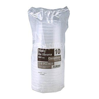Carrefour Home 10 Vasos de Plástico 11,8x23cm - Transparente 10 ud