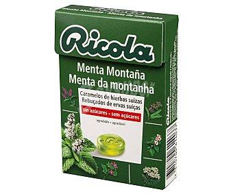 Ricola Caramelos de menta montaña sin azúcar Caja 50 g
