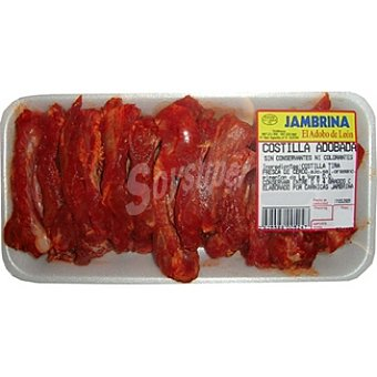 Jambrina Costilla adobada de cerdo en tiras peso aproximado Bandeja 550 g